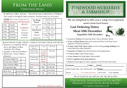 Pinewood Christmas Meat Order form 2018